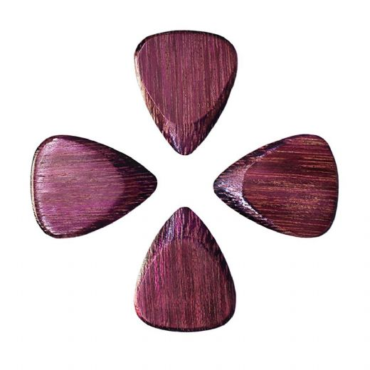 Timber Tones Purple Heart 4 Guitar Picks